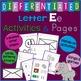 Letter E Alphabet Unit Plan