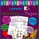 Letter K Alphabet Unit Plan