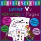 Letter V Alphabet Unit Plan