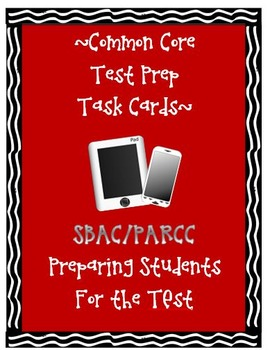 SBAC PARCC Common Core Test Prep Task Cards