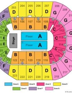 Verizon arena end stage zone also tickets in north little rock arkansas rh ticketseating