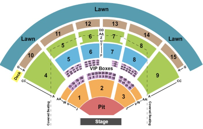 PNC Music Pavilion Tickets in Charlotte North Carolina
