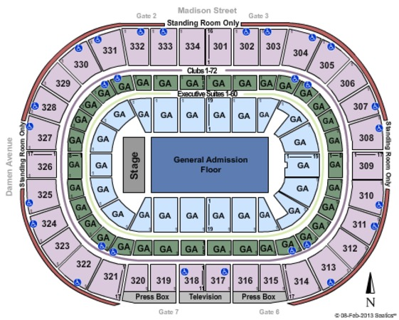 United Center Tickets In Chicago Illinois, United Center