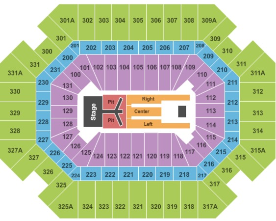 Seating Boling Concert Chart Arena Thompson