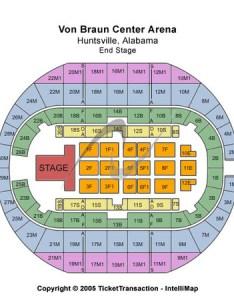 Von braun center arena end stage also tickets in huntsville alabama seating charts rh ticketseating