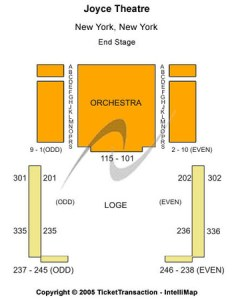 Joyce theater end stage also tickets in new york seating charts rh ticketseating