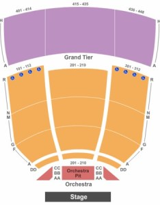 Tennessee performing arts center james  polk theater end stage also tickets in rh ticketseating