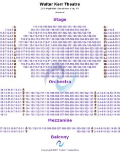 Walter kerr theatre seating chart also tickets in new york rh ticketseating