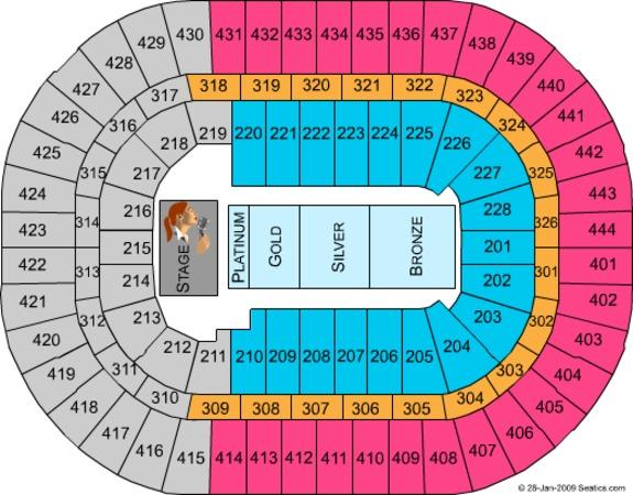 Anaheim Pond Seating Chart