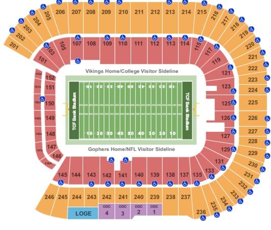 Tcf Bank Stadium Seat Chart Brokeasshome Com