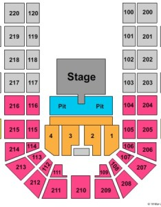 Verizon wireless center half house and pit also tickets in mankato minnesota seating charts rh ticketseating