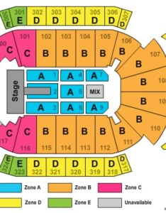 End stage zone seating map jacksonville veterans memorial arena also tickets and rh ticketsupply