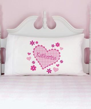 Little Sweetheart Personalized Organic Pillowcase