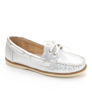 Silver Boat Shoe