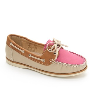 Pink & Brown Two-Tone Boat Shoe
