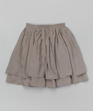 Slate Gray Layered Skirt - Toddler & Girls