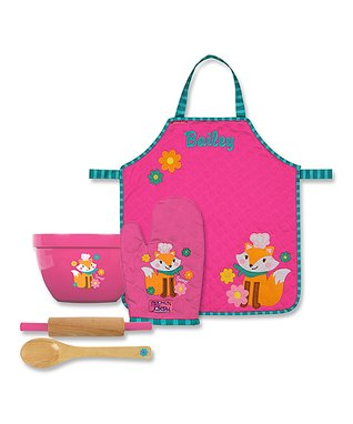 Fox Personalized Apron & Cooking Tools Set