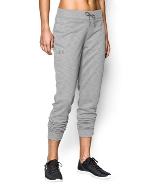 True Gray Heather Solid French Terry Pants