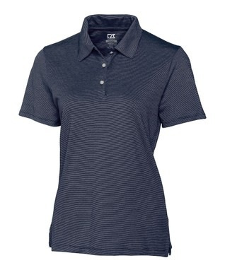 Navy Blue DryTec Resolute Supima-Blend Polo - Plus Too
