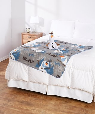 Frozen Olaf 'Happy Snowman' Throw & Plush Set