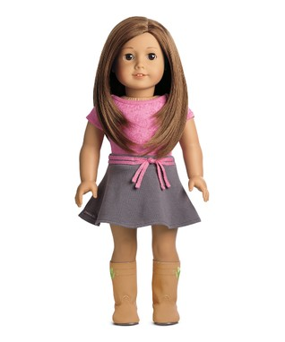 Light Skin, Layered Brown Hair, Brown Eye 18'' Doll & Outfit Set
