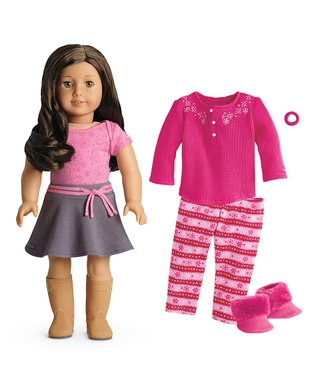 Light Skin, Wavy Brown Hair, Hazel Eye Doll & Outfit Set