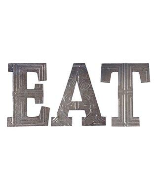 'EAT' Metal Letters