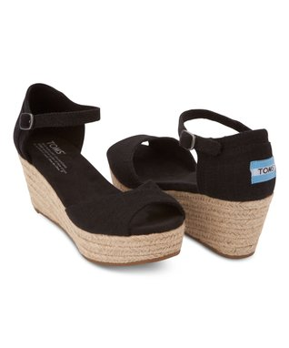 Black Platform Wedge