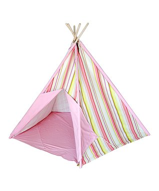 Pink Stripe Tepee Tent