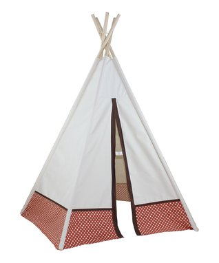 Orange Polka Dot Five-Panel Teepee