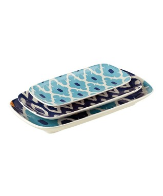 Blue Nested Plate Set