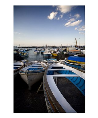 Fishing Boats Capri Gallery-Wrapped Canvas