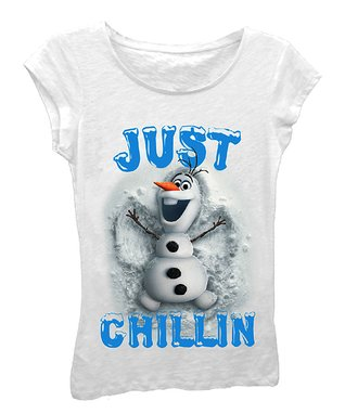 White Olaf 'Just Chillin' Tee - Girls