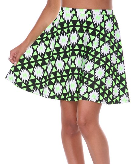 Lime Triangle Circle Skirt