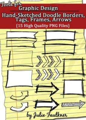 Borders, Frames, Tags, Arrows {Doodles, Sketchy, Hand-Draw