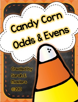 Candy Corn Odds & Evens - Odd and Even Math Center