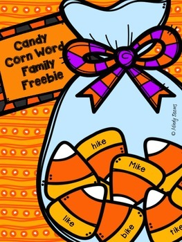 Candy Corn Word Family Freebie (-ike)