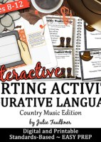 Figurative Language Review Game {Country Songs Version} Wo