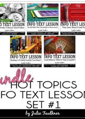 Informational Text Nonfiction Close Reading HOT TOPICS BUN