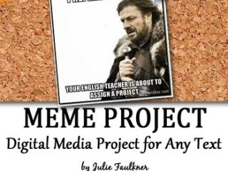 Meme Project for Modern, Text-Based Fun with Literature {FREEBIE}