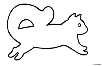Squirll Outline Template Clipart