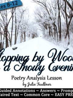 """Stopping by Woods on a Snowy Evening"" Winter, Poetry Clos"