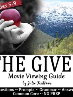 The Giver Movie Viewing Guide, Questions, Prompts, Sub Pla