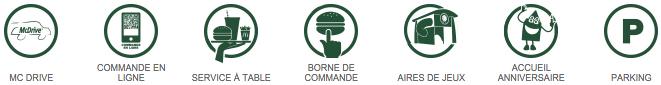 Les services dans les restaurants McDonald's Boisseuil | Saint Junien | Aixe-sur-Vienne