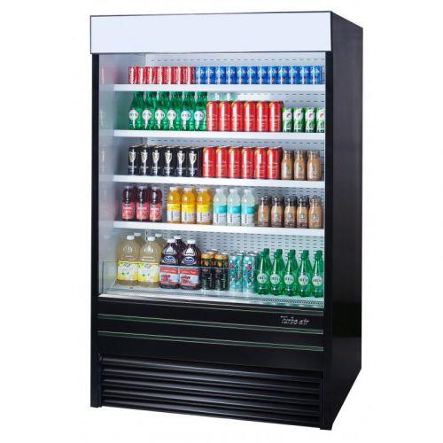 turbo air tom 48eb n open display merchandiser 48 inch l vertical air curtain