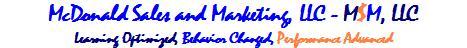 sales training, McDonald Sales and Marketing, LLC