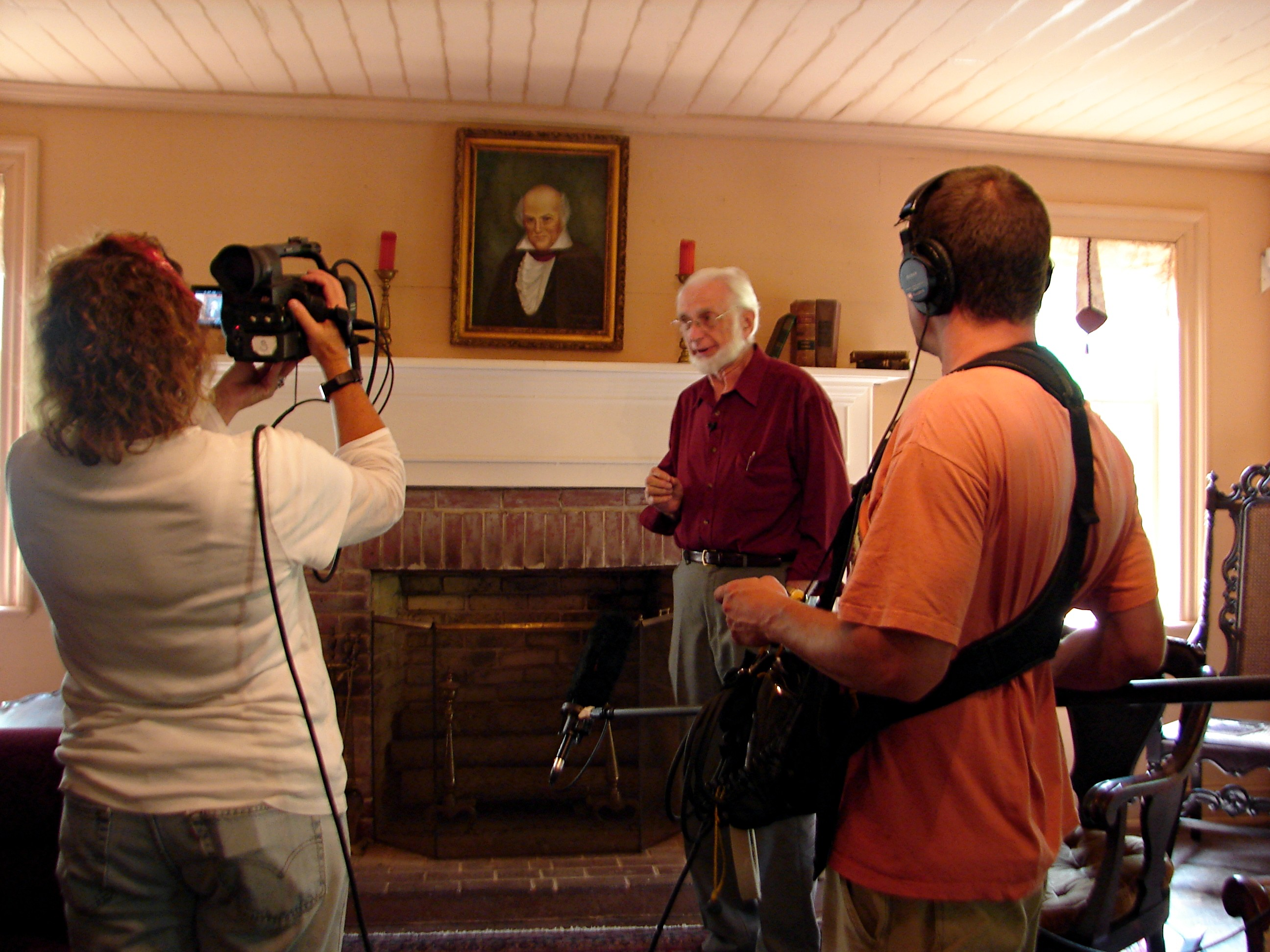 Dr. Jim Haney at the Carson House