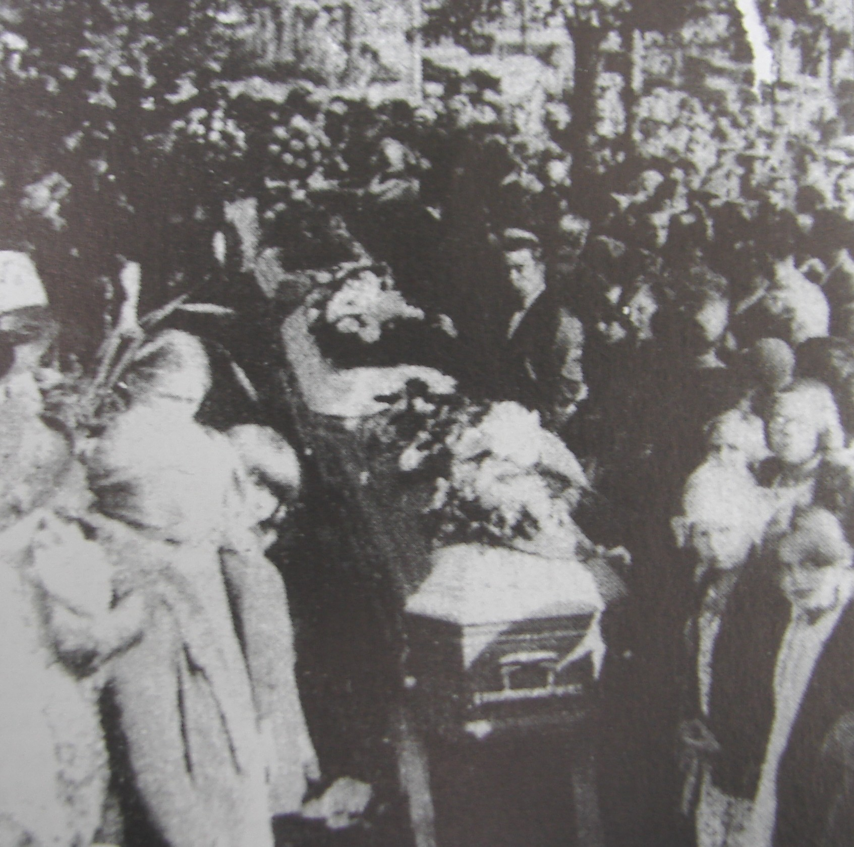 The strike was so divisive that no church would hold services for the slain workers.  Instead, their coffins were placed on saw horses in a field near the mill.