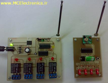 ریموت کنترلر رادیویی 4 کانال
