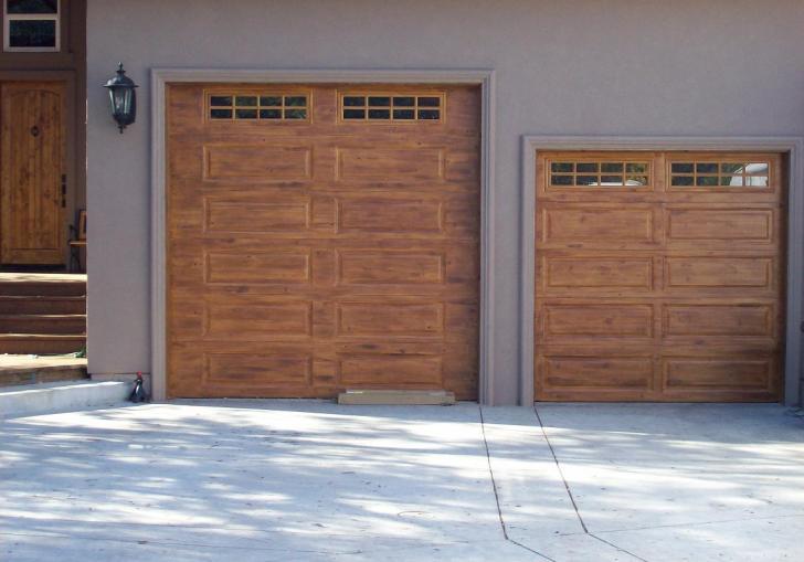 Painted Wooden Garage Doors